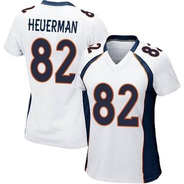 Women's Nike Denver Broncos Jeff Heuerman White Jersey - Game
