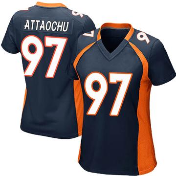 Women's Nike Denver Broncos Jeremiah Attaochu Navy Blue Alternate Jersey - Game