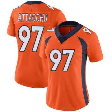 Women's Nike Denver Broncos Jeremiah Attaochu Orange 100th Vapor Jersey - Limited
