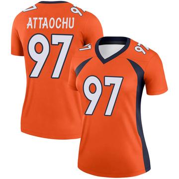 Women's Nike Denver Broncos Jeremiah Attaochu Orange Jersey - Legend