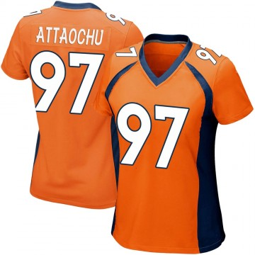 Women's Nike Denver Broncos Jeremiah Attaochu Orange Team Color Jersey - Game