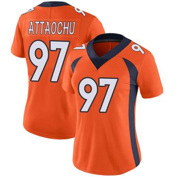 Women's Nike Denver Broncos Jeremiah Attaochu Orange Team Color Vapor Untouchable Jersey - Limited