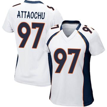Women's Nike Denver Broncos Jeremiah Attaochu White Jersey - Game