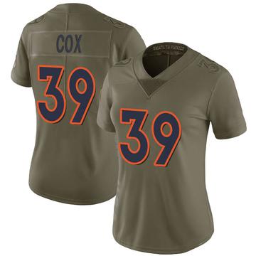 Women's Nike Denver Broncos Jeremy Cox Green 2017 Salute to Service Jersey - Limited