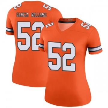 Women's Nike Denver Broncos Jerrol Garcia-Williams Orange Color Rush Jersey - Legend