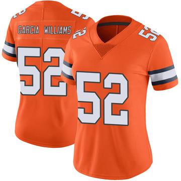 Women's Nike Denver Broncos Jerrol Garcia-Williams Orange Color Rush Vapor Untouchable Jersey - Limited