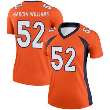 Women's Nike Denver Broncos Jerrol Garcia-Williams Orange Jersey - Legend