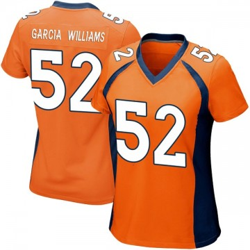 Women's Nike Denver Broncos Jerrol Garcia-Williams Orange Team Color Jersey - Game