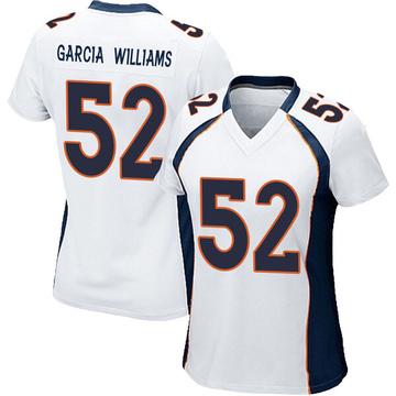 Women's Nike Denver Broncos Jerrol Garcia-Williams White Jersey - Game