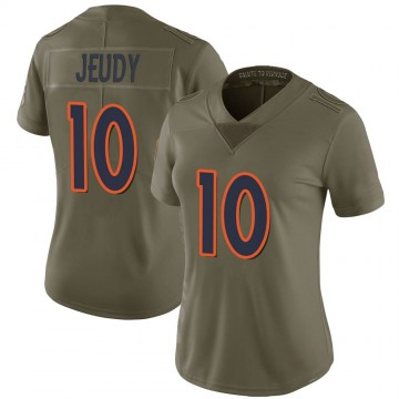 Women's Nike Denver Broncos Jerry Jeudy Green 2017 Salute to Service Jersey - Limited