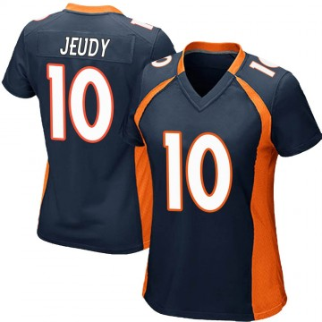 Women's Nike Denver Broncos Jerry Jeudy Navy Blue Alternate Jersey - Game