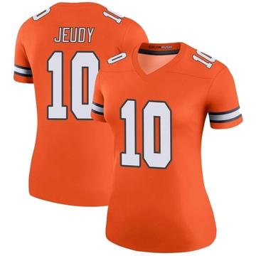 Women's Nike Denver Broncos Jerry Jeudy Orange Color Rush Jersey - Legend
