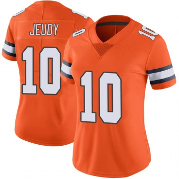 Women's Nike Denver Broncos Jerry Jeudy Orange Color Rush Vapor Untouchable Jersey - Limited