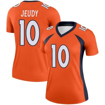 Women's Nike Denver Broncos Jerry Jeudy Orange Jersey - Legend