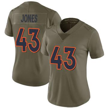 Women's Nike Denver Broncos Joe Jones Green 2017 Salute to Service Jersey - Limited