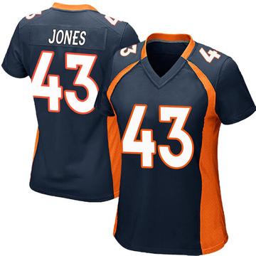 Women's Nike Denver Broncos Joe Jones Navy Blue Alternate Jersey - Game
