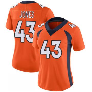 Women's Nike Denver Broncos Joe Jones Orange 100th Vapor Jersey - Limited