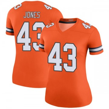 Women's Nike Denver Broncos Joe Jones Orange Color Rush Jersey - Legend