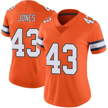 Women's Nike Denver Broncos Joe Jones Orange Color Rush Vapor Untouchable Jersey - Limited