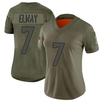 Women's Nike Denver Broncos John Elway Camo 2019 Salute to Service Jersey - Limited