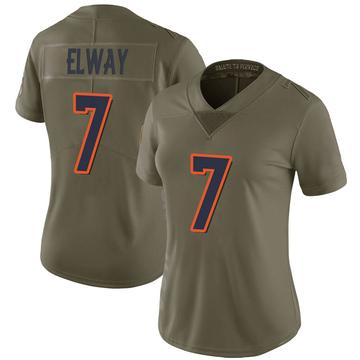 Women's Nike Denver Broncos John Elway Green 2017 Salute to Service Jersey - Limited