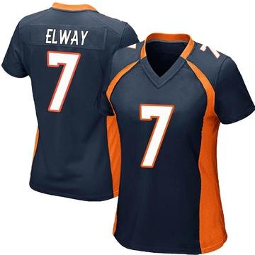 Women's Nike Denver Broncos John Elway Navy Blue Alternate Jersey - Game