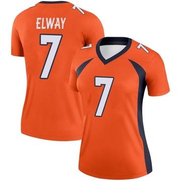 Women's Nike Denver Broncos John Elway Orange Jersey - Legend