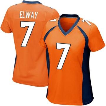 Women's Nike Denver Broncos John Elway Orange Team Color Jersey - Game