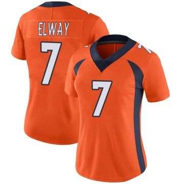 Women's Nike Denver Broncos John Elway Orange Team Color Vapor Untouchable Jersey - Limited