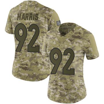 Women's Nike Denver Broncos Jonathan Harris Camo 2018 Salute to Service Jersey - Limited