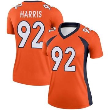 Women's Nike Denver Broncos Jonathan Harris Orange Jersey - Legend