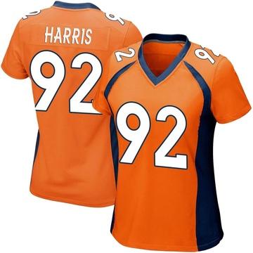 Women's Nike Denver Broncos Jonathan Harris Orange Team Color Jersey - Game