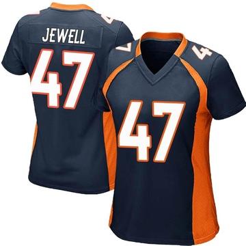 Women's Nike Denver Broncos Josey Jewell Navy Blue Alternate Jersey - Game