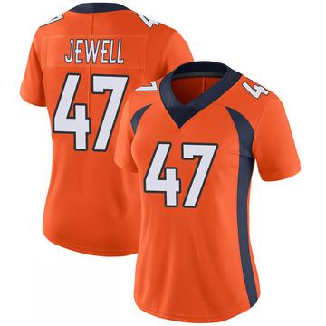 Women's Nike Denver Broncos Josey Jewell Orange 100th Vapor Jersey - Limited
