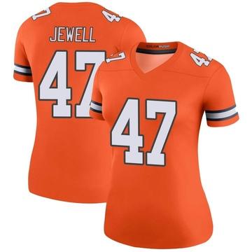 Women's Nike Denver Broncos Josey Jewell Orange Color Rush Jersey - Legend