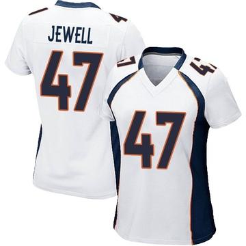 Women's Nike Denver Broncos Josey Jewell White Jersey - Game