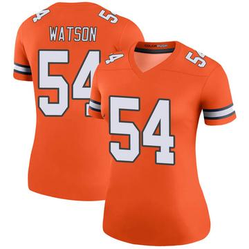 Women's Nike Denver Broncos Josh Watson Orange Color Rush Jersey - Legend
