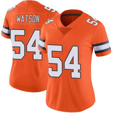 Women's Nike Denver Broncos Josh Watson Orange Color Rush Vapor Untouchable Jersey - Limited