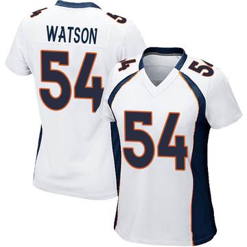 Women's Nike Denver Broncos Josh Watson White Jersey - Game