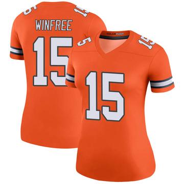 Women's Nike Denver Broncos Juwann Winfree Orange Color Rush Jersey - Legend