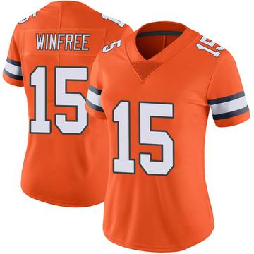 Women's Nike Denver Broncos Juwann Winfree Orange Color Rush Vapor Untouchable Jersey - Limited