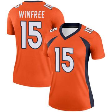 Women's Nike Denver Broncos Juwann Winfree Orange Jersey - Legend