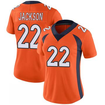 Women's Nike Denver Broncos Kareem Jackson Orange 100th Vapor Jersey - Limited