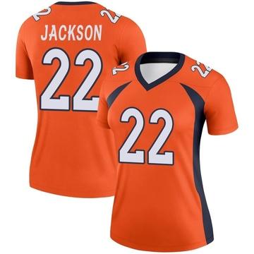 Women's Nike Denver Broncos Kareem Jackson Orange Jersey - Legend
