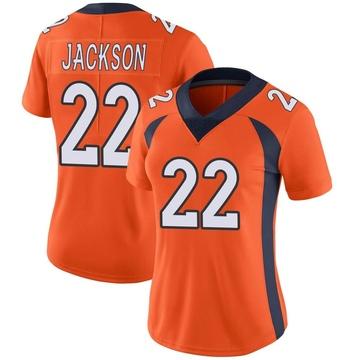 Women's Nike Denver Broncos Kareem Jackson Orange Team Color Vapor Untouchable Jersey - Limited