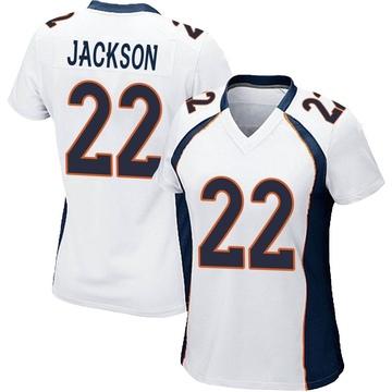Women's Nike Denver Broncos Kareem Jackson White Jersey - Game