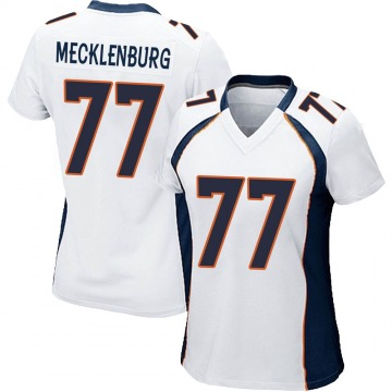 Women's Nike Denver Broncos Karl Mecklenburg White Jersey - Game