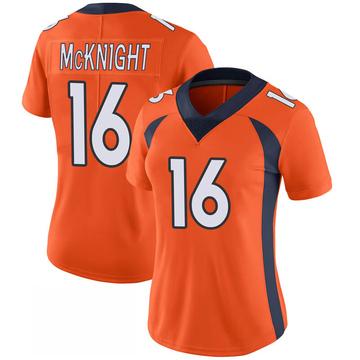 Women's Nike Denver Broncos Kelvin McKnight Orange 100th Vapor Jersey - Limited
