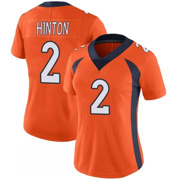 Women's Nike Denver Broncos Kendall Hinton Orange 100th Vapor Jersey - Limited