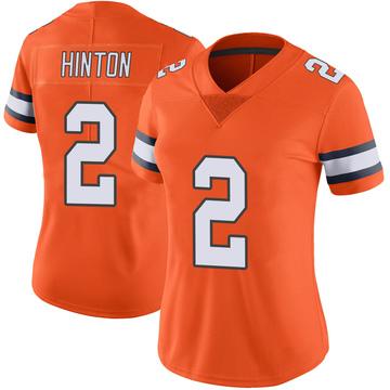 Women's Nike Denver Broncos Kendall Hinton Orange Color Rush Vapor Untouchable Jersey - Limited